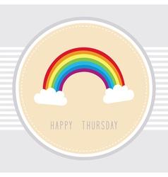 Thursday card1 vector image vector image
