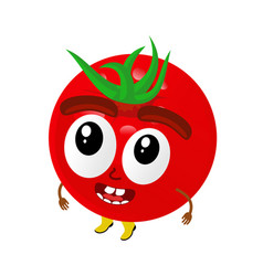 tomatoes cartoon vector image vector image