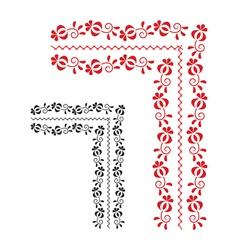 Traditional folk ornament vector