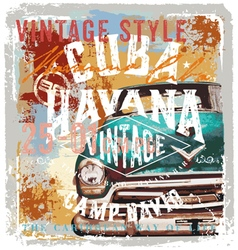 Vintage cuba style vector
