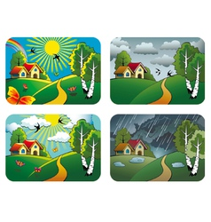 Weather landscapes vector image vector image