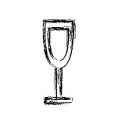 wine glass cup drink alcohol liquid icon vector image