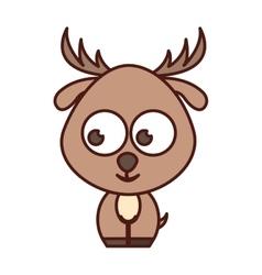 cute reindeer tender character vector image