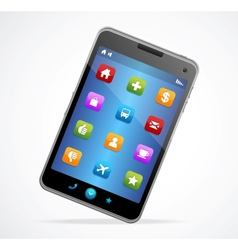 Smart Phone With blue screen and icons vector image