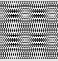 Seamless lattice pattern black repeating grid vector