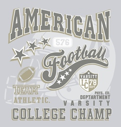 American football college champ vector