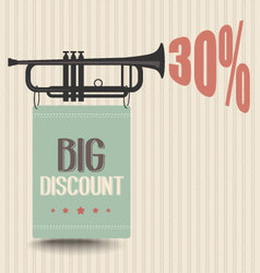 Retro discount poster vector