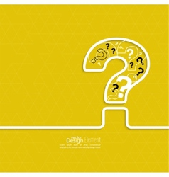Question mark icon vector