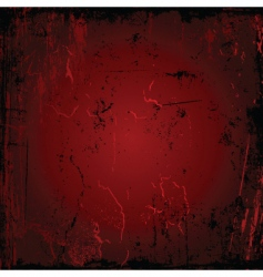 red grunge vector image