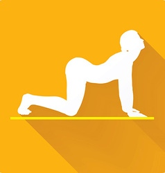 Yoga pose icon vector