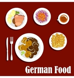 Popular national german cuisine dishes vector