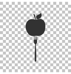 Vegetarian food sign  dark gray icon vector