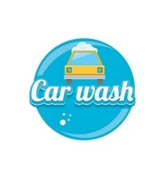 Car wash icons set isolated on white vector image