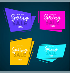 Abstract speed geometric origami banner vector