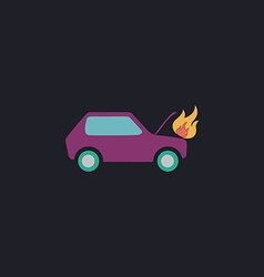 Car fired computer symbol vector image