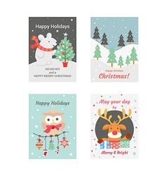 Christmas cards 5 vector