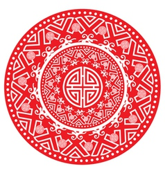 Circular geometric pattern vector