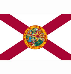 Florida state flag vector
