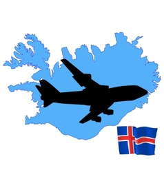 fly me to the Iceland vector image vector image