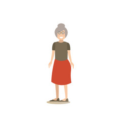 grandmother concept in flat vector image vector image