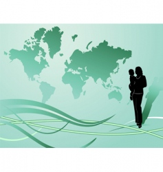 green globe illustration vector image