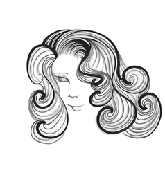 Hairstyle retro vector