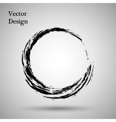 Hand drawn circle shape label logo design vector image vector image