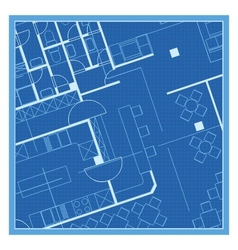 House plan blueprint vector image vector image