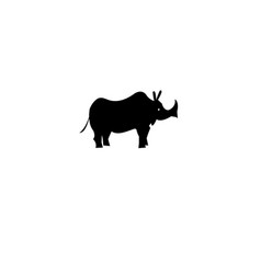 icon of a rhino vector image vector image