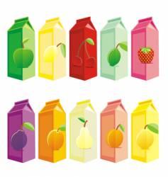 juice carton boxes vector image vector image