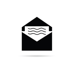 Letter with message icon vector