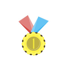 medal gold icon award badge best design element vector image
