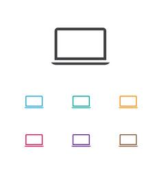 Of instrument symbol on laptop vector