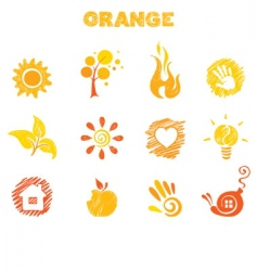 orange theme vector image vector image