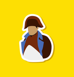 Paper sticker on stylish background napoleon vector