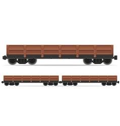 railway carriage 02 vector image vector image