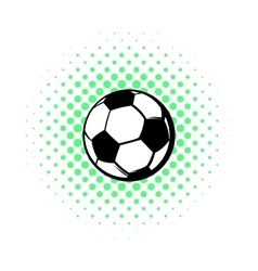 Soccer ball icon comics style vector image