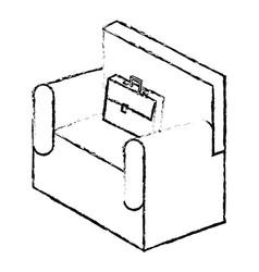 sofa with portfolio isometric isolated icon vector image