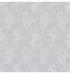 vintage seamless floral pattern grey vector image vector image