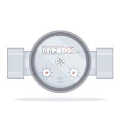 water meter vector image