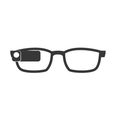 Glasses icon wearable technology design vector