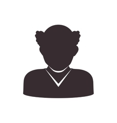 Man head and torso silhouette icon Avatar male vector image