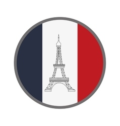 French emblem icon vector