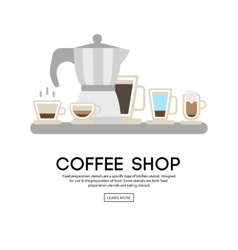 Coffee shop background vector