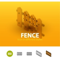 Fence icon in different style vector