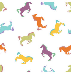 Colorful horse seamless pattern vector