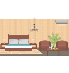 Luxury hotel room interior east style with vector