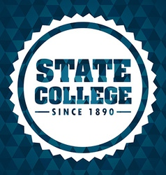 College design vector