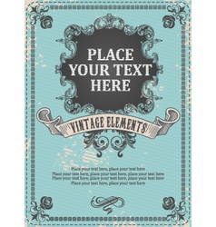 Vintage frame background vector