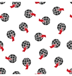Global shock flat seamless pattern vector